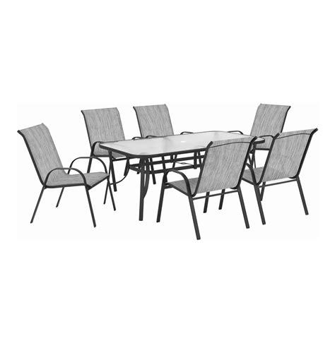 Textilene Patio Furniture Terrace Leisure Box 220x140x95cm Manor 7 Textilene Patio Set Beige Lowest Prices