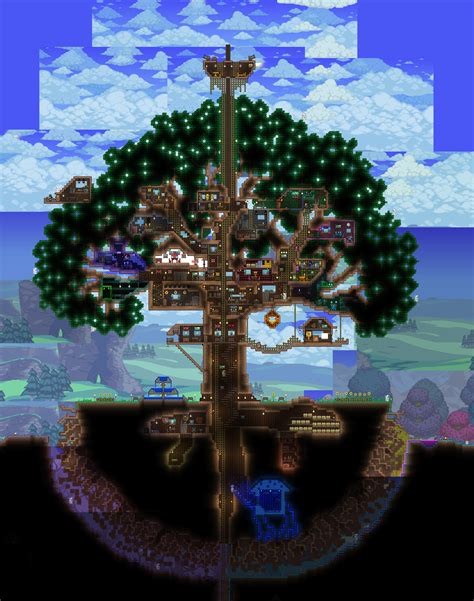 Narrow House Designs by My Tree House A Long Time In The Making Terraria