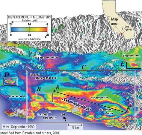 map of los angeles basin u s geological survey fact sheet 069 03 measuring human