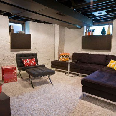 Inexpensive Basement Finishing Ideas Unfinished Basement Ideas Basement Ceilings