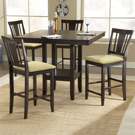 Square Counter Height Dining Table Sets with Hillsdale Arcadia 5 Square Counter Height Dining Table Set 4180dtbsg