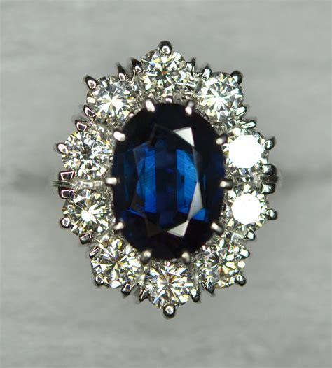 Blue Safir Burma 2 85ct vintage 2 20 carat unheated burmese mogok sapphire
