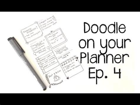doodle schedule organizer doodle on your planner episode 4 feat planners and