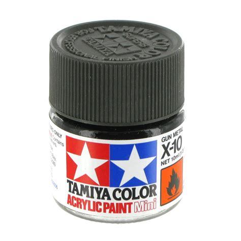 acrylic paint metal tamiya colour acrylic paint x 10 gun metal 10ml hobbycraft