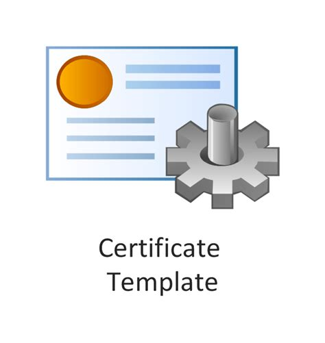 active directory certificate templates active directory vector stencils library