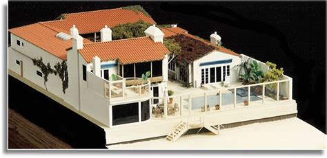 miniature homes models architectural model miniature model house malibu california