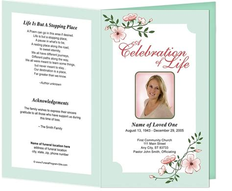 218 Best Images About Creative Memorials With Funeral Program Templates On Pinterest Funeral Order Of Service Template Free