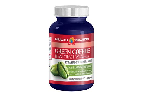 Caffeine Detox Pills by Antioxidant Supplement Green Coffe Bean Extract Cleanse