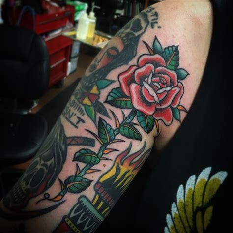 tattoo rose with thorns school swordfish tattoogrid net