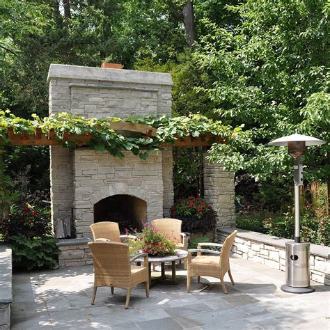 Patio Fireplace Designs Sizzling Style How To Decorate A Stylish Outdoor Hangout With A Fireplace