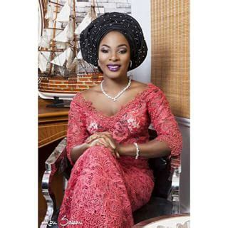 latest iro and blouse made with cord lace wedding trend nigerian brides bridesmaids guests cord