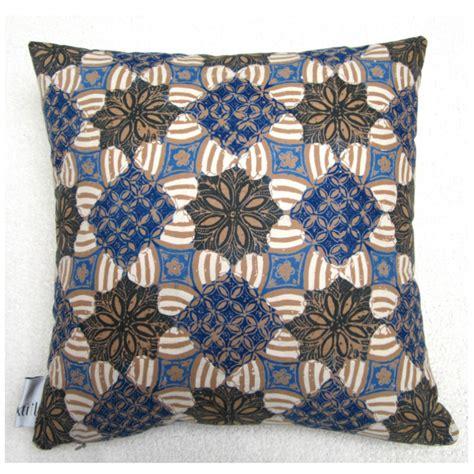 blue brown geometric pillow textiil modern global