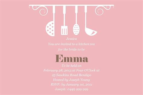 kitchen invitation cards templates kitchen tea invitation templates free cloudinvitation