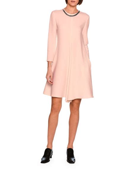emily swing stella mccartney emily swing dress with falabella chain rose