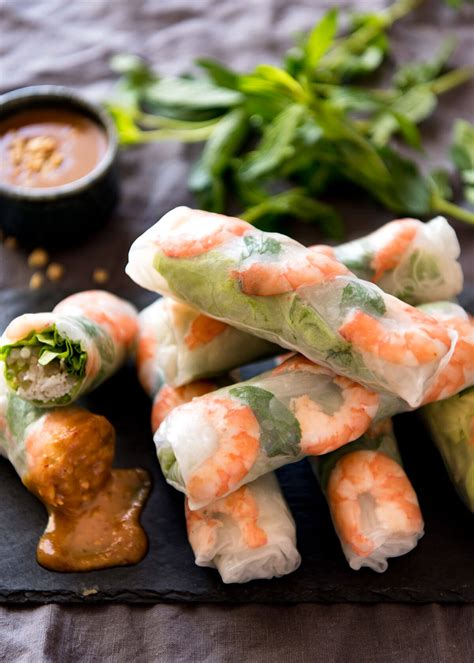 How To Make Rice Paper Wraps - rice paper rolls recipetin eats
