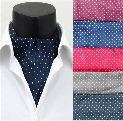 s fashion dots silk scarves cravat ascot neck