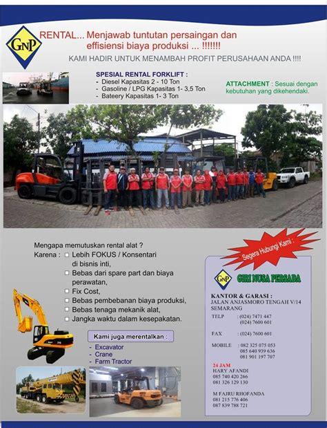 Sewa Rental Forklift Tegal by Gnp Rental Forklift Semarang
