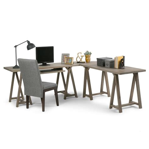 simpli home sawhorse computer desk simpli home acadian desk brown price tracking