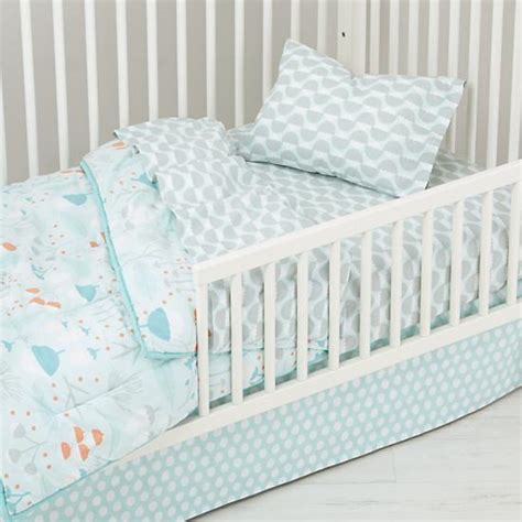toddler bed set well nested toddler bedding blue the land of nod