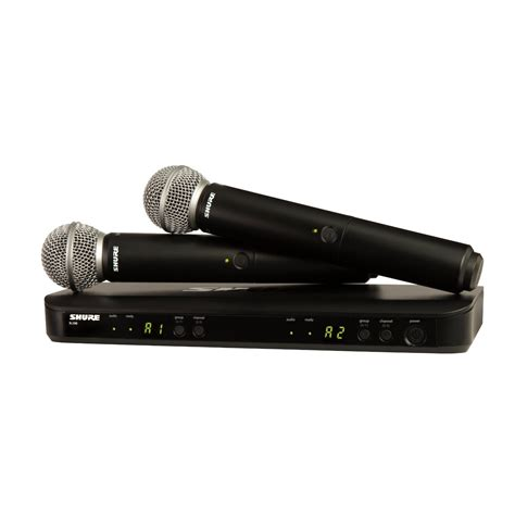 Mic Wireless Shure Blx 100 Multi Channel Handheld Legenda Artis shure blx288 sm58 microphones products