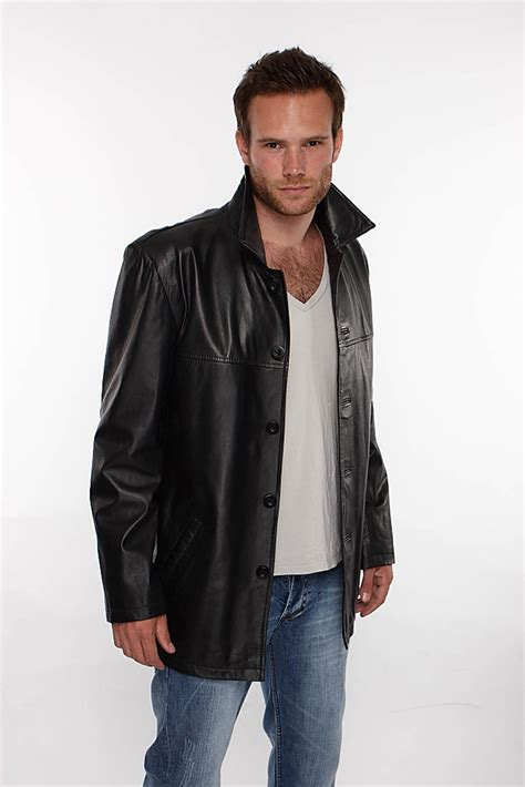 leather jacket mens reefer leather jacket in black leather blazer