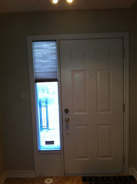 Glass Front Door Window Coverings Front Door Sidelight Window Covering Solution Trendy Blinds