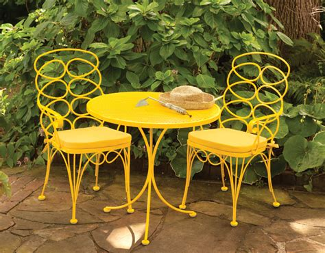 Yellow Bistro Table And Chairs Two And A Farm Inspiration Thursday Bistro Sets