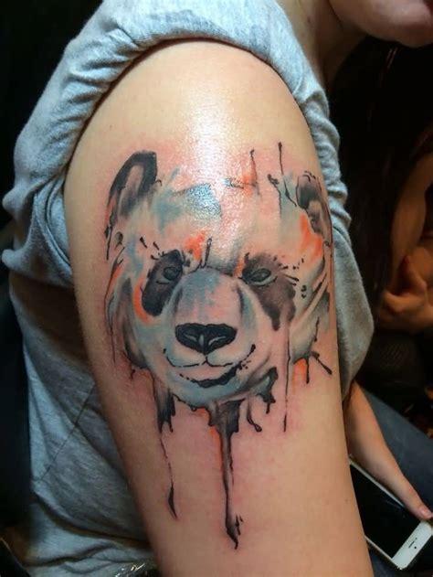 panda face tattoo 34 watercolor panda tattoos