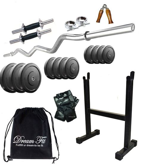 dreamfit exclusive 100 kg home set with curl rod 2