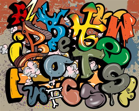 graffiti vector design elements 25x eps graffiti alphabet elements stock vector illustration of