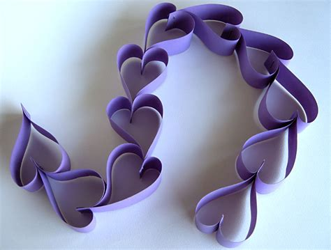 Craft Paper Hearts - chain tutorial more betz white