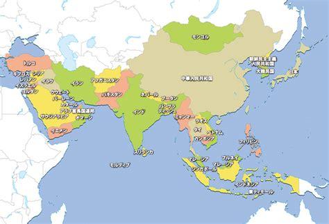 世界の白地図 地図から探す アジア地域