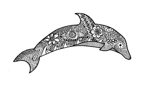 dolphin pattern drawing zentangle dolphin drawing pinterested pinterest