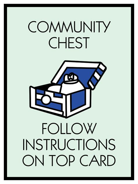 Monopoly Community Chest Cards Template by Monopoly Poster Community Chest Themed 18 X 24 Poster Print