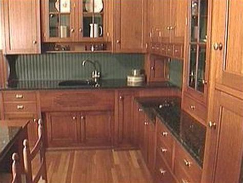 Quarter Sawn Oak Kitchen Cabinets Hickory Cabinets With Bead Board Panel Bing Images My