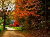HD Barn In Autumn Landscape Wallpaper  Background