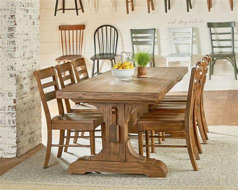magnolia home farmhouse keyed trestle dining table setting furnishings dining room farmhouse dining room table dining room table decor