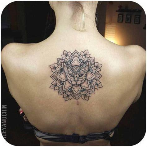 tattoo mandala cat cat mandala tattoo on back best tattoo ideas gallery