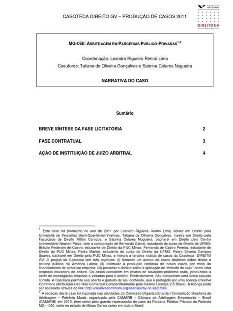 Turmas 21 e 23 - Caso PPP e Arbitragem | Arbitragem