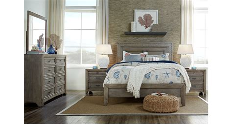 lane bedroom sets sandy lane driftwood 5 pc queen panel bedroom casual
