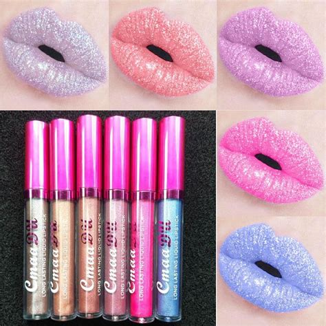 Lipgloss Naked5 Longlasting best cmaadu 12 colors metallic lip gloss gold sparkle lasting waterproof matte liquid