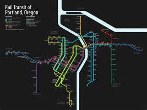 portland oregon streetcar map rail transit of portland oregon visual ly