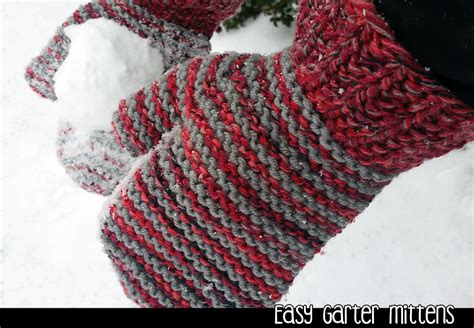 knitted mittens on 2 needles easy garter mittens on 2 needles knitting pattern on luulla