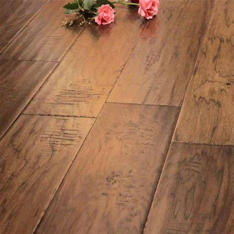 Distressed Hickory Laminate Flooring - hamilton plank hickory distressed 6 1 2 quot from prestige