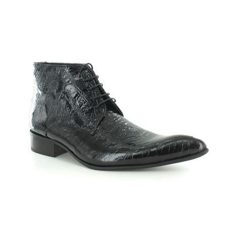 mens patent leather boots gucinari 7275 mens patent leather mondo print lace up