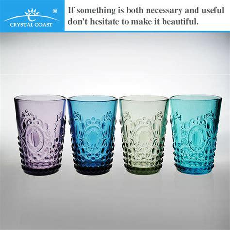 bicchieri cristallo colorati acrilico a buon mercato bicchieri di vetro colorato buy