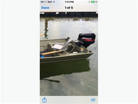 jon boat vancouver 15hp mercury 2stroke with aluminum jon boat and trailer