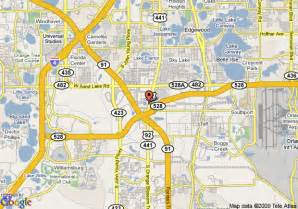Map Of Florida Mall by Map Of Hampton Inn Orlando Florida Mall Orlando