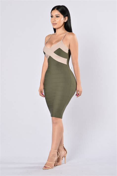 Dress Olive 4 kori dress olive taupe