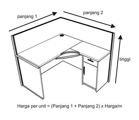 Meja Kantor Standar jual cara menghitung harga meja sekat furniture semarang